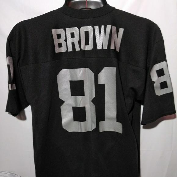 finest selection 7b948 e237e VTG Tim Brown LA Raiders Logo 7 Jersey Nwot Lg